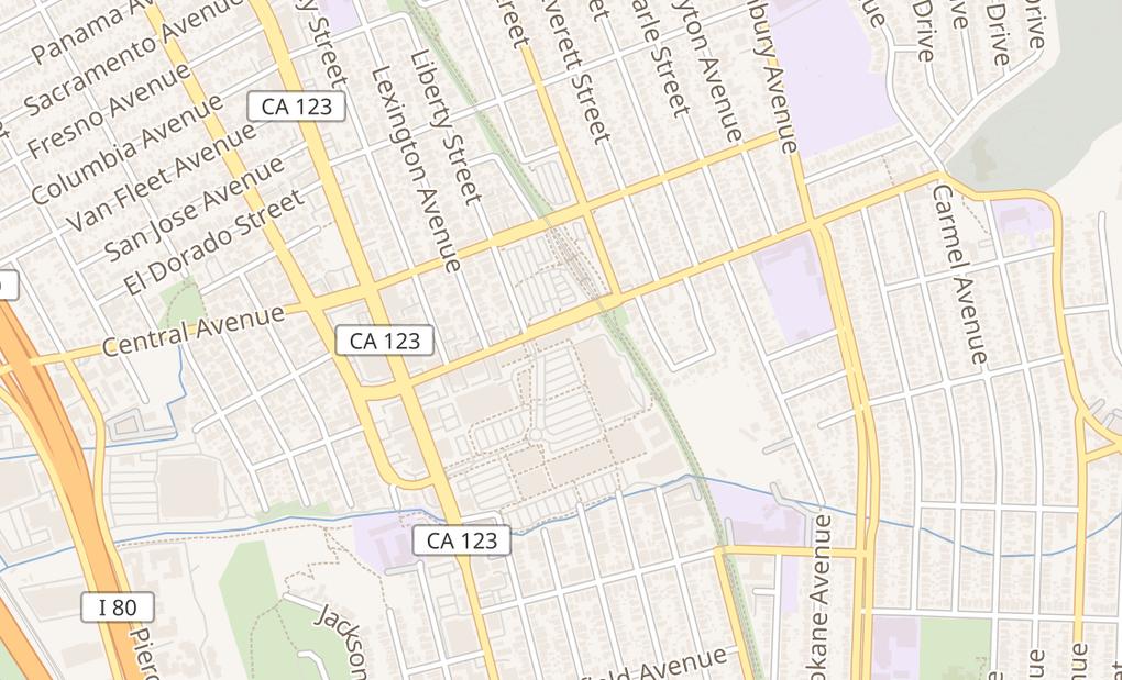 map of 3020 El Cerrito PlazaEl Cerrito, CA 94530