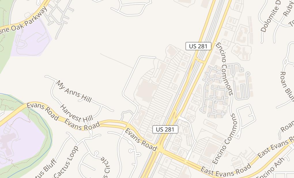 map of 20935 US Highway 281 NSan Antonio, TX 78258