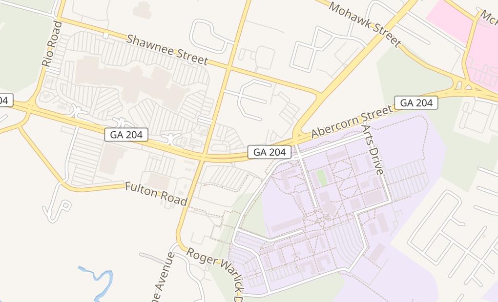 map of 13051 Abercorn St Suite B-2Savannah, GA 31419