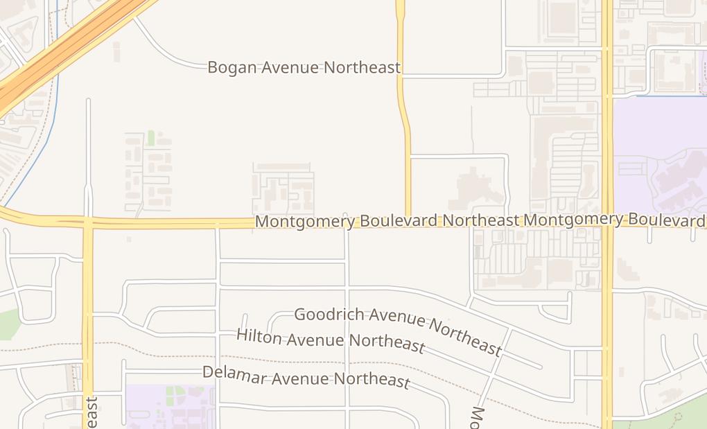 map of 4411 San Mateo Blvd NE Ste K & LAlbuquerque, NM 87109