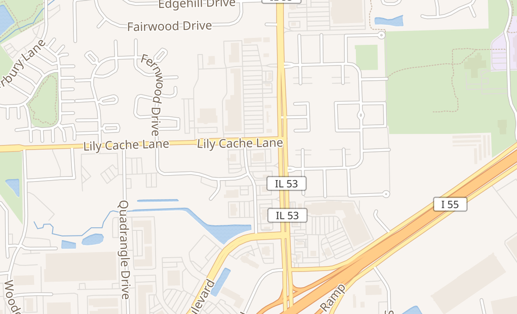 map of 101 Lily Cache LnBolingbrook, IL 60440