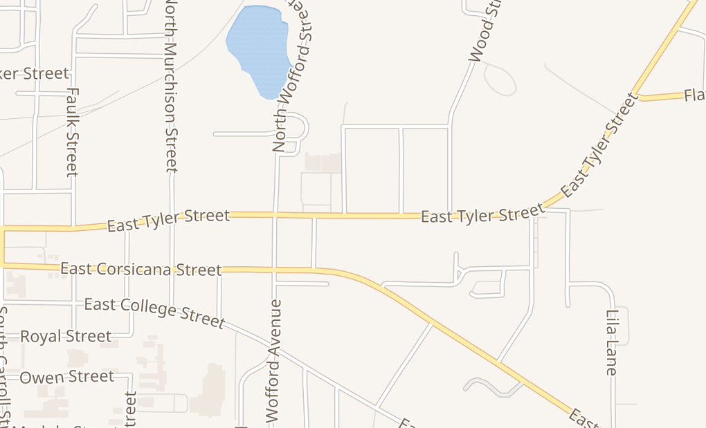 map of 909 E Tyler StAthens, TX 75751