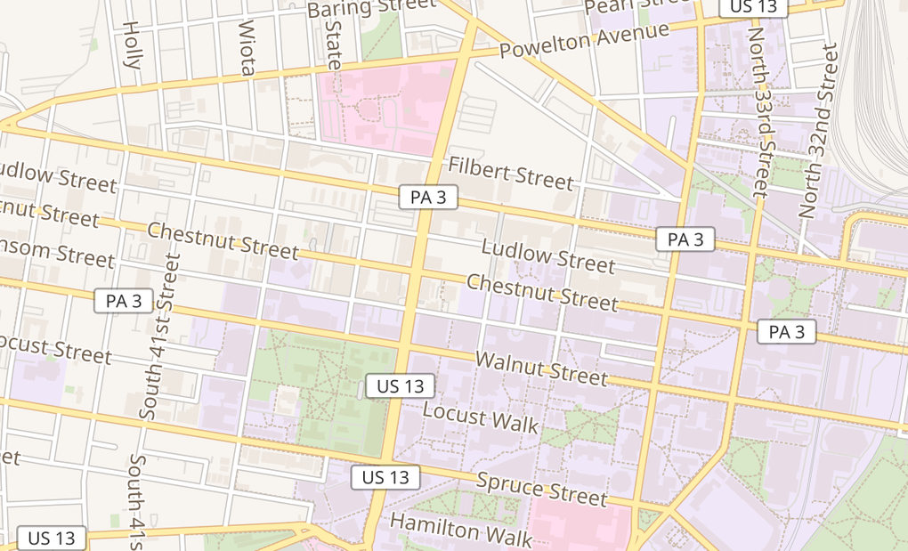 map of 3737 Chestnut St Ste 100Philadelphia, PA 19104