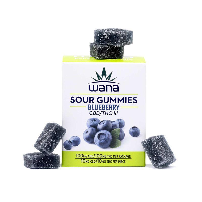 Gummies   1:1   CBD/THC   Blueberry   100mg - Wana