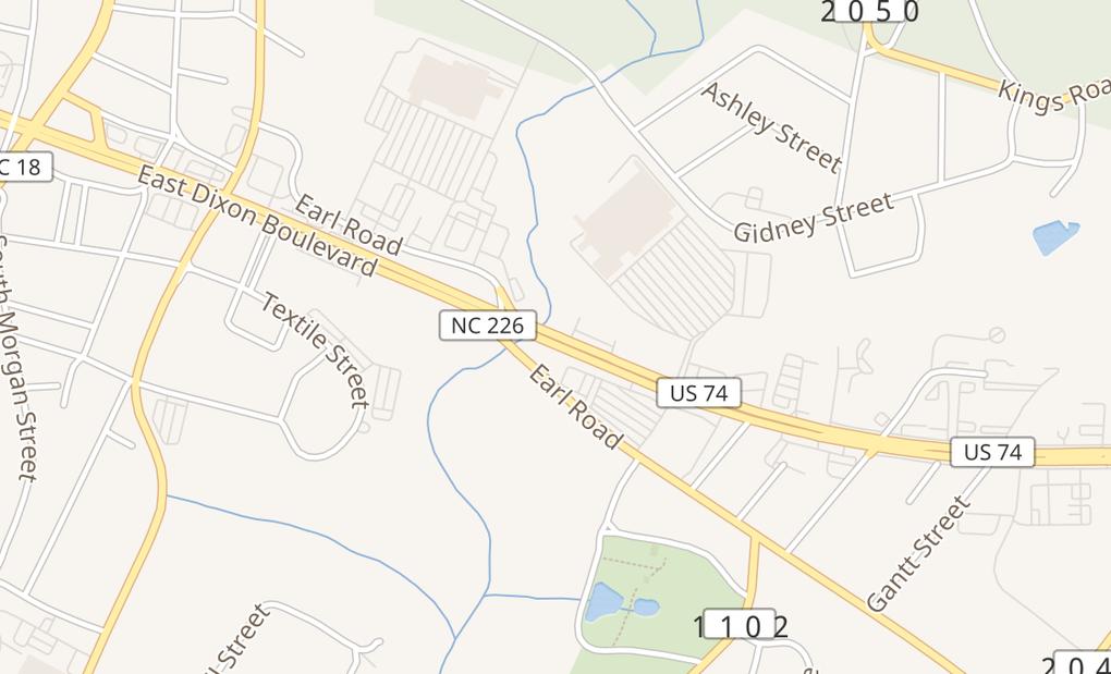 map of 707 E Dixon BlvdShelby, NC 28152