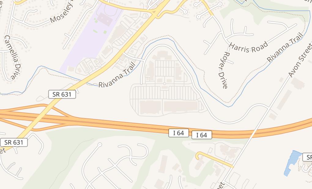 map of 265 Merchant Walk Sq Ste 300Charlottesville, VA 22902