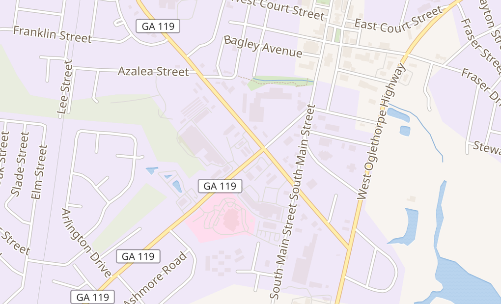 map of 201 W General Screven WayHinesville, GA 31313