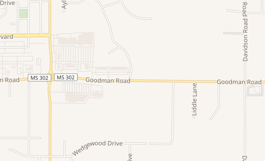 map of 5338 Goodman Rd Ste 109Olive Branch, MS 38654