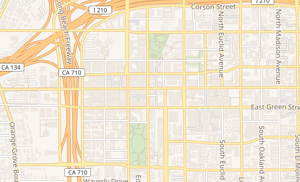 map of 80 E Colorado BlvdPasadena, CA 91105