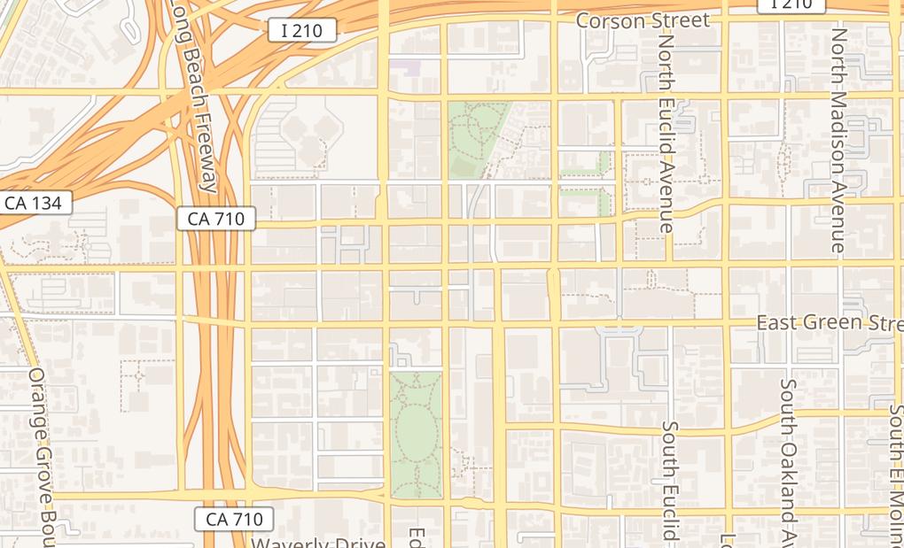 map of 80 E Colorado BlvdPasadena, CA 91105