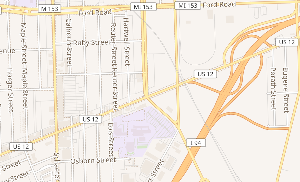 map of 12850 Michigan AveDearborn, MI 48126