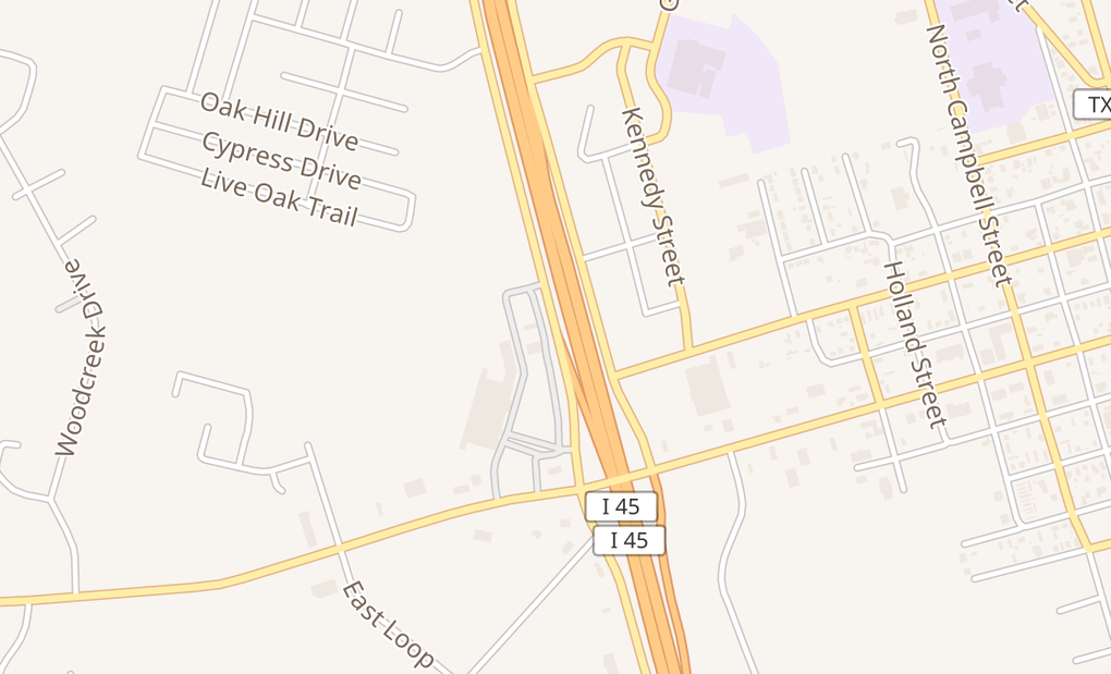 map of 12717 Interstate 45 N Ste 200Willis, TX 77318