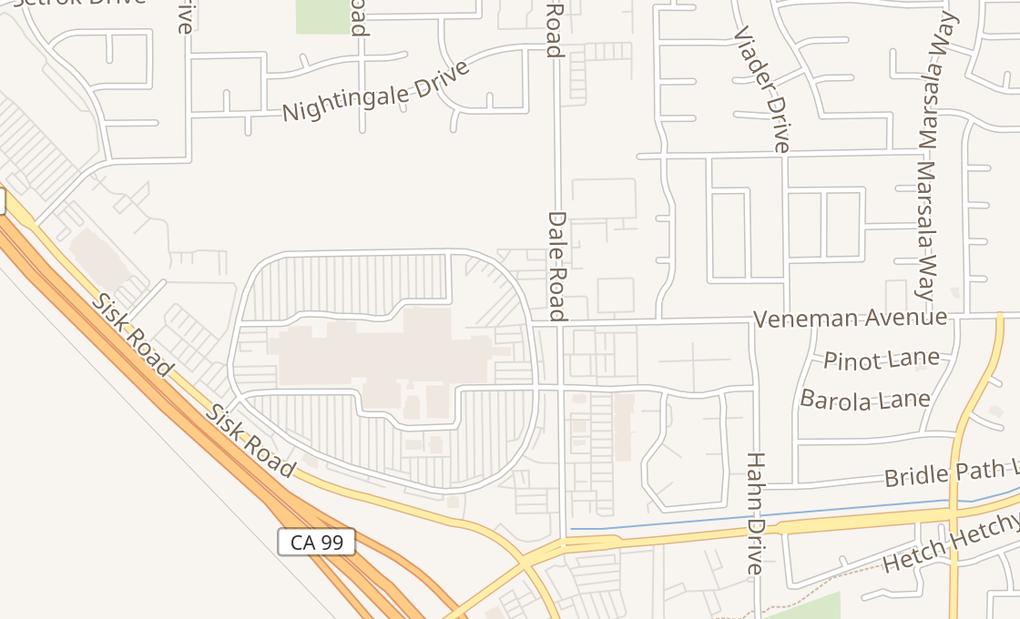 map of 3401 Dale Rd Spc. Cc58Modesto, CA 95356