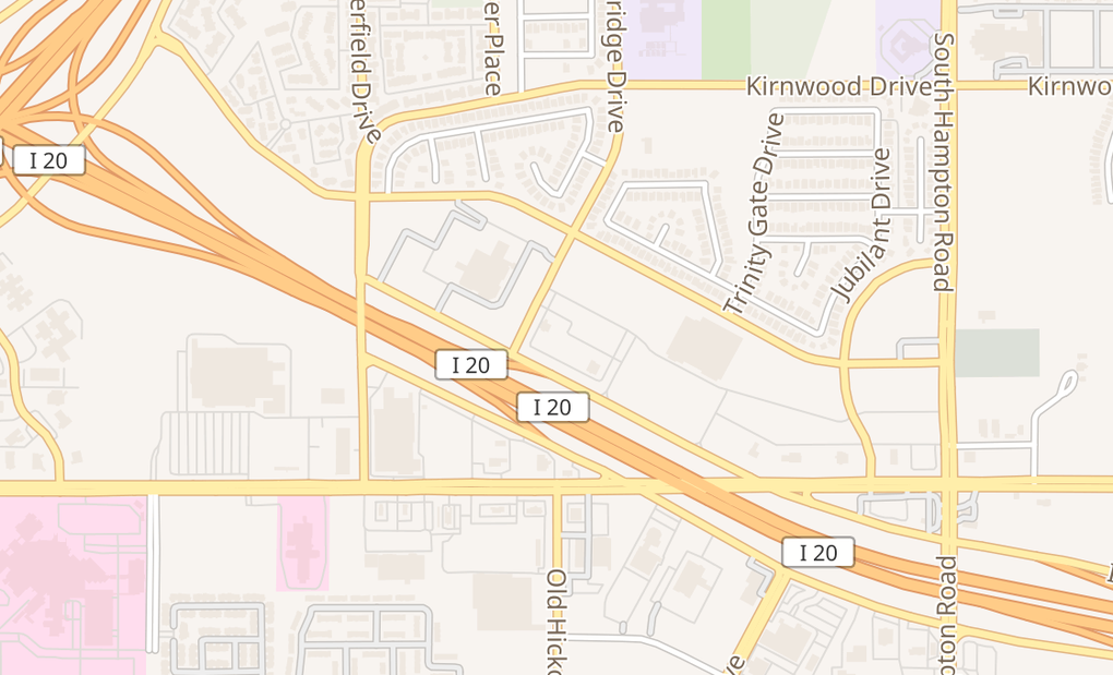 map of 39779 I-20 Lyndon B Johnson Fwy Ste 101Dallas, TX 75237
