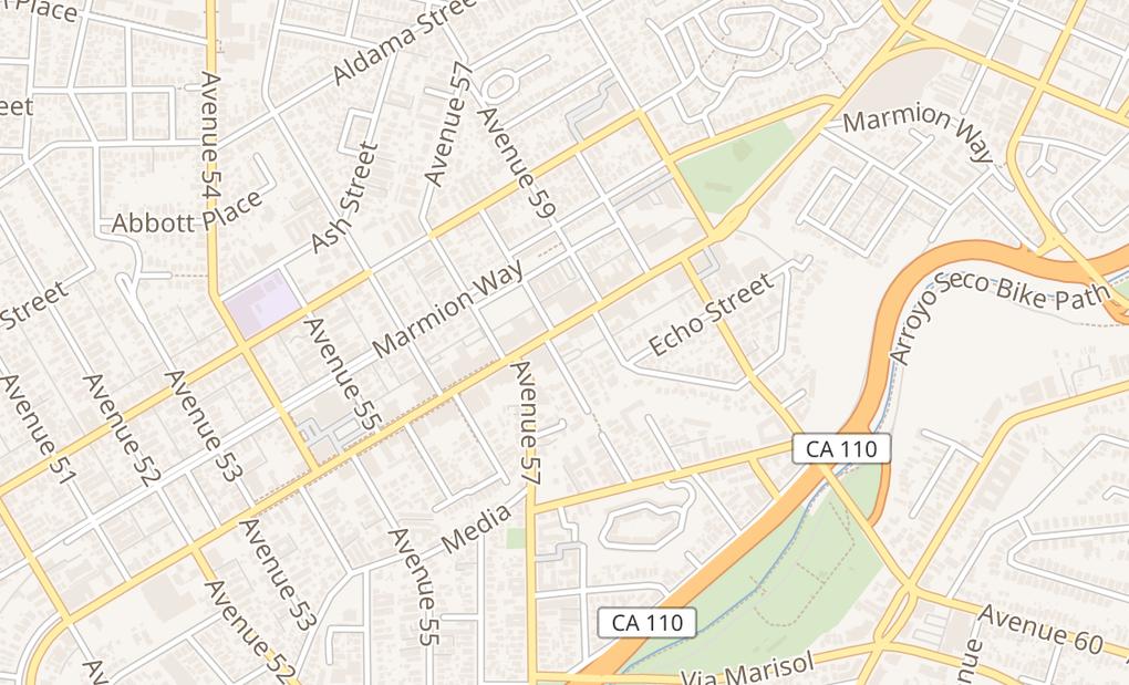 map of 5804 N FigueroaLos Angeles, CA 90042