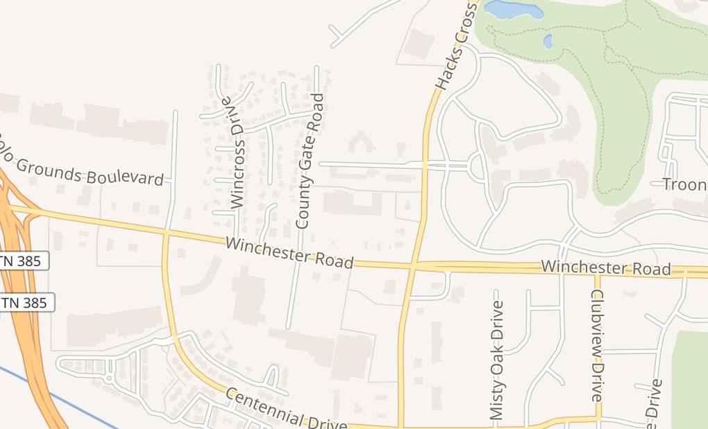 map of 7948 Winchester Rd Ste 101Memphis, TN 38125