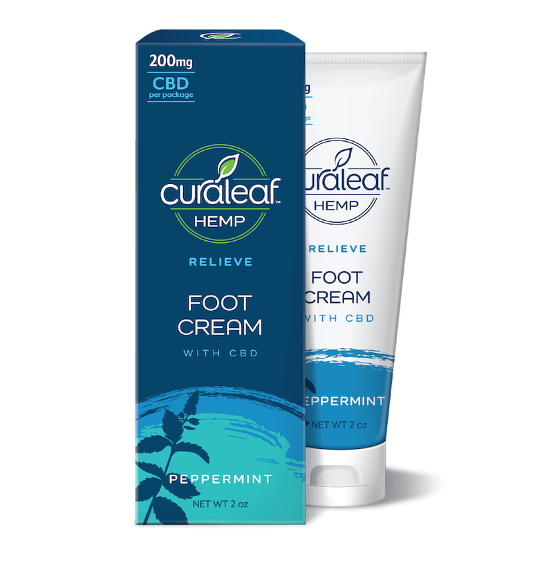 Peppermint CBD Foot Cream | 200mg - CURALEAF HEMP