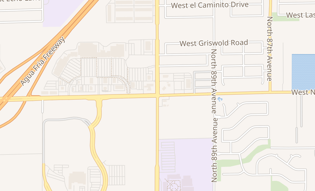 map of 9494 W Northern Ave Ste 111Glendale, AZ 85305