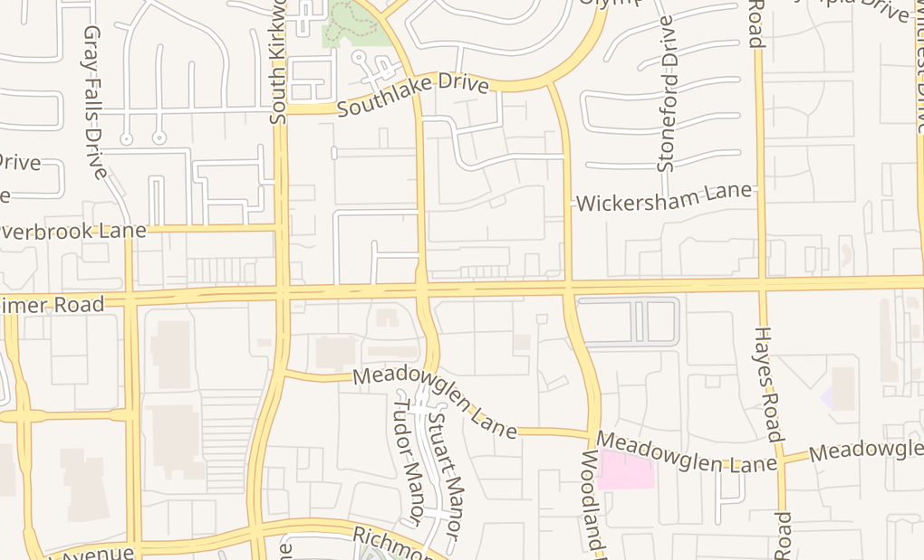 map of 11660 Westheimer Rd Ste 127Houston, TX 77077