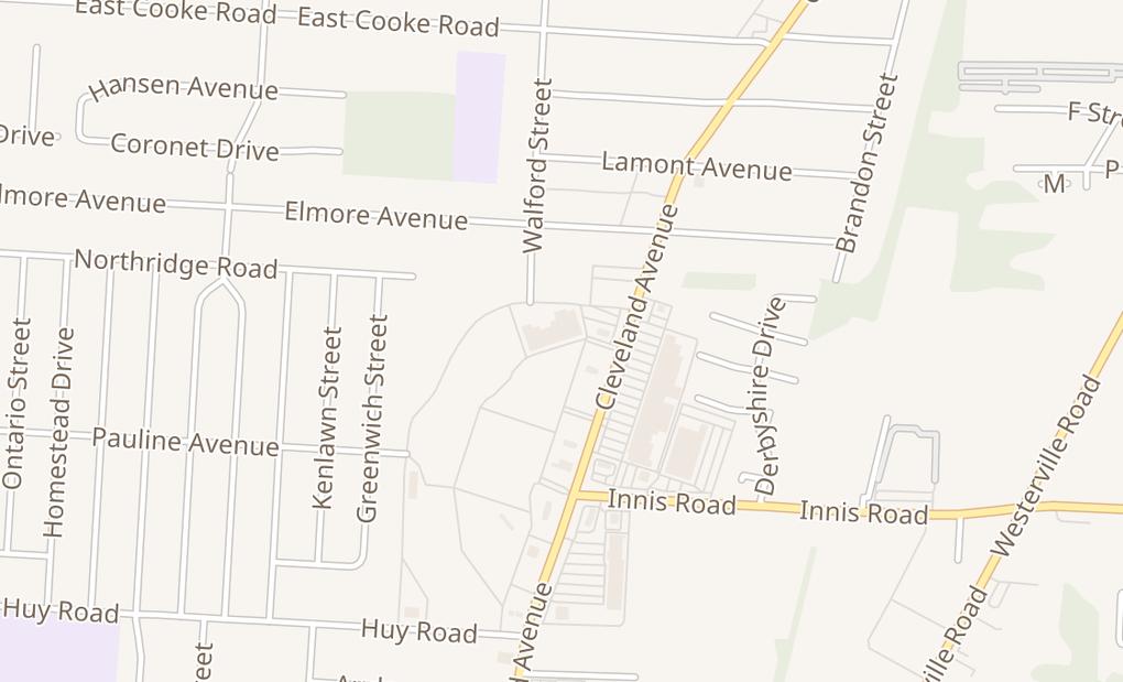 map of 3547 Cleveland AveColumbus, OH 43224