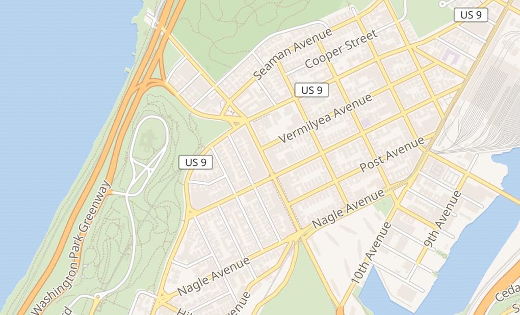 map of 184 Dyckman StNew York, NY 10040
