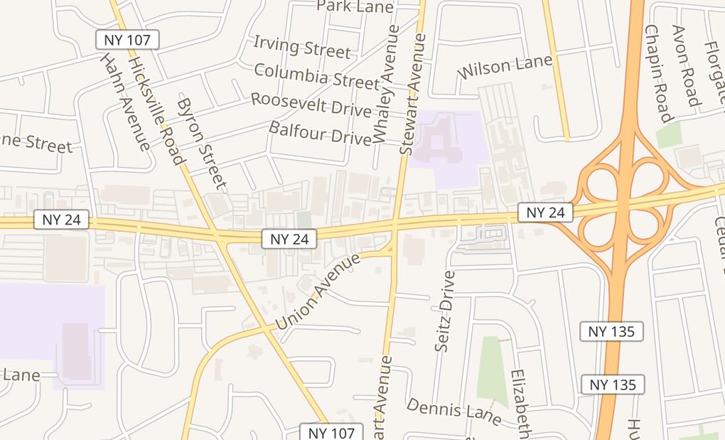 map of 4121 Hempstead TpkeBethpage, NY 11714