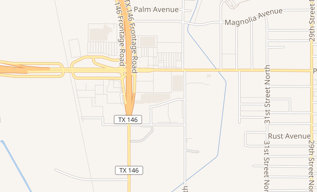 map of 3533 Palmer HwyTexas City, TX 77590