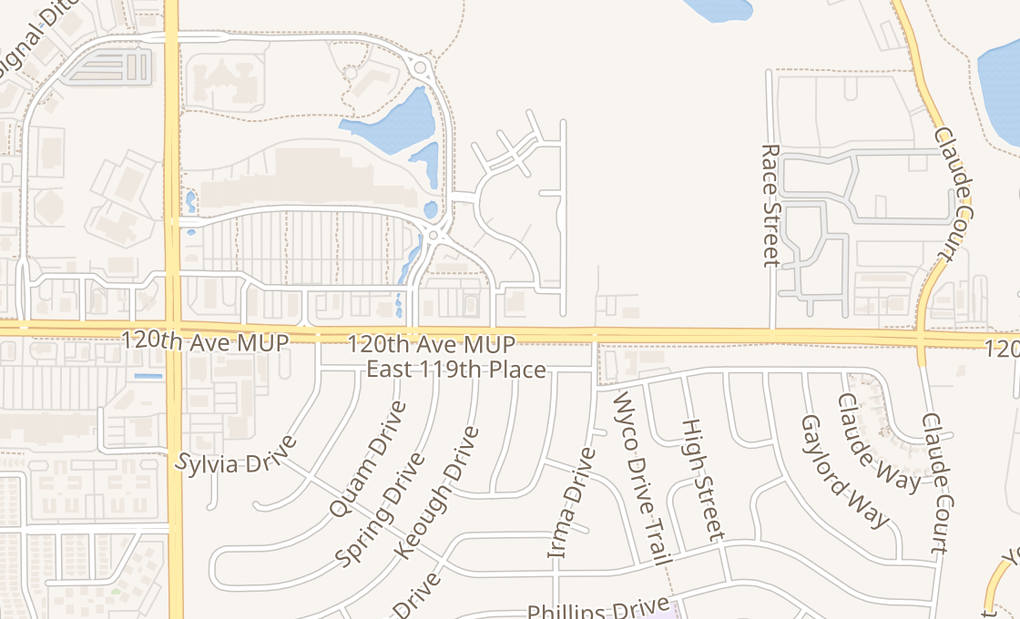 map of 1391 E 120Th Ave Unit AThornton, CO 80233