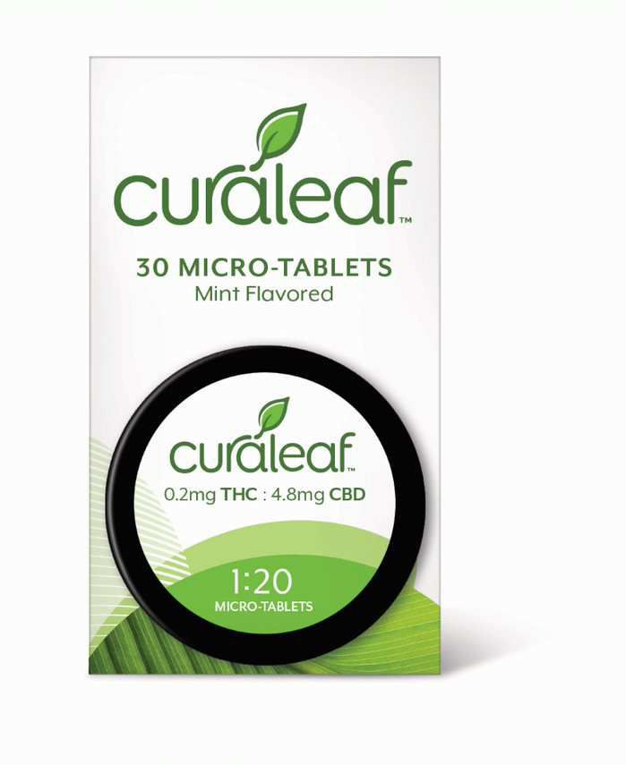 Curaleaf Mint-Flavored Micro Tablets 1:20 30ct - Curaleaf | Out of Stock - Plattsburgh, NY