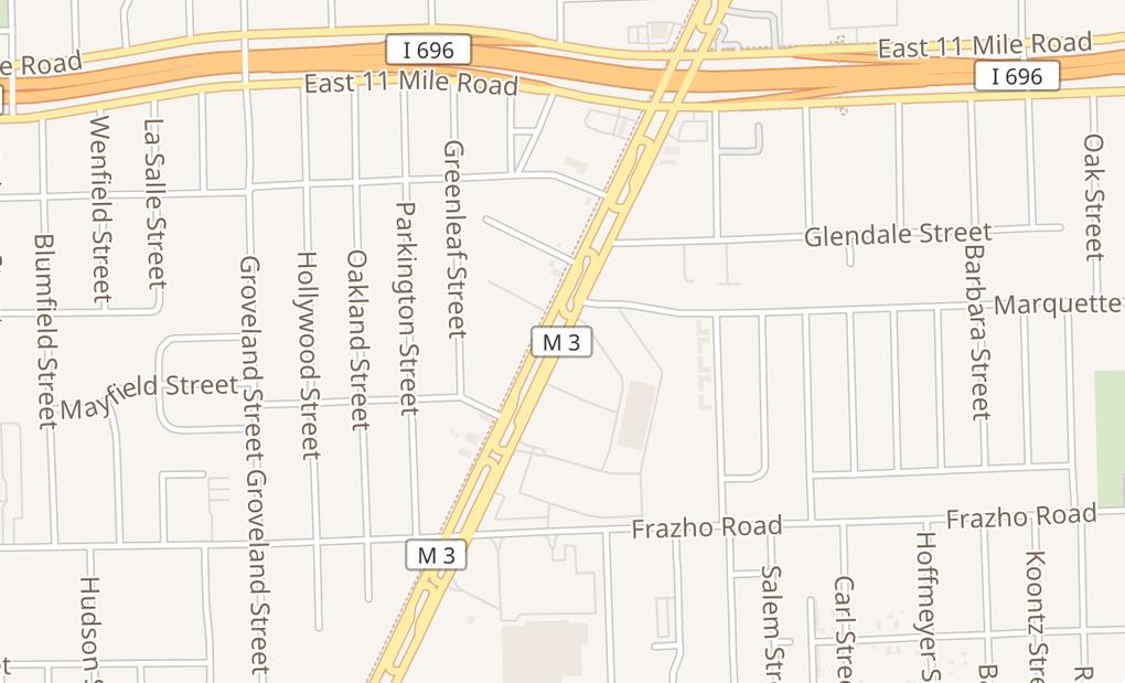 map of 26500 Gratiot AveRoseville, MI 48066