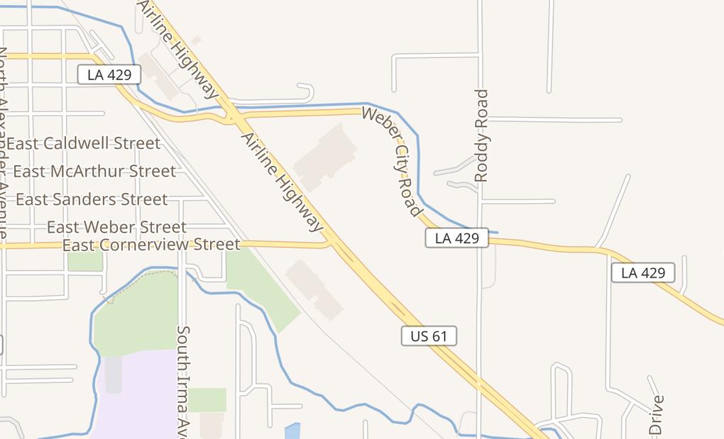 map of 216 N Airline HwyGonzales, LA 70737