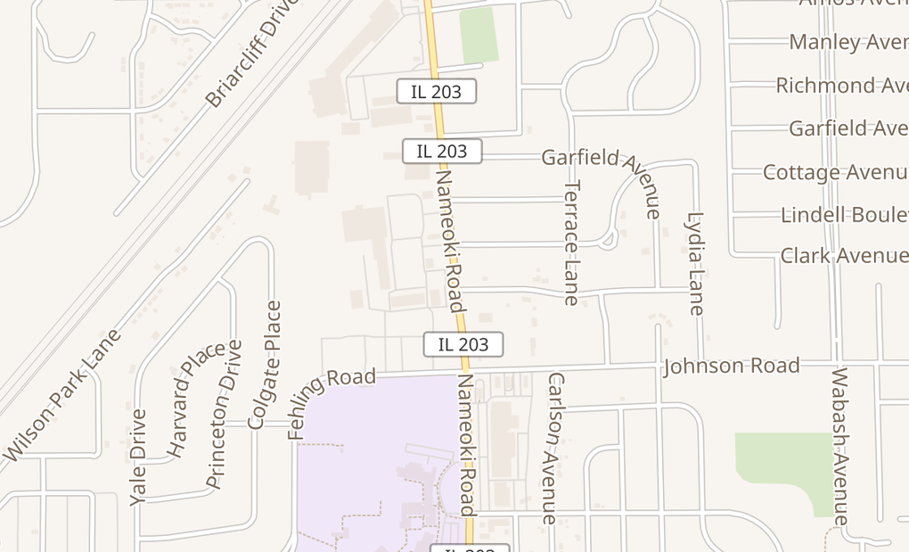 map of 3405B Nameoki RdGranite City, IL 62040