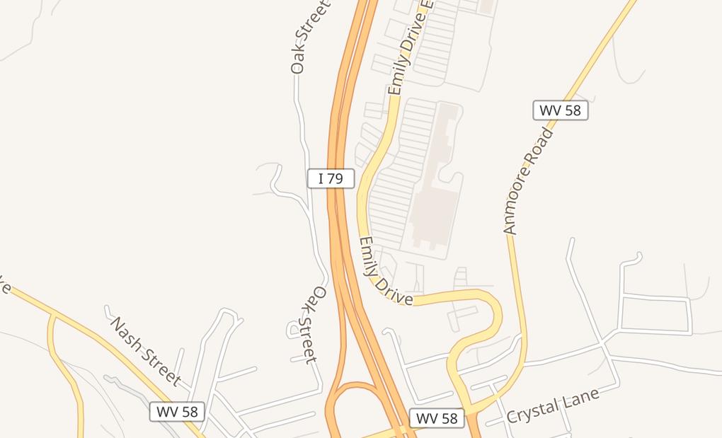 map of 474 Emily DrClarksburg, WV 26301