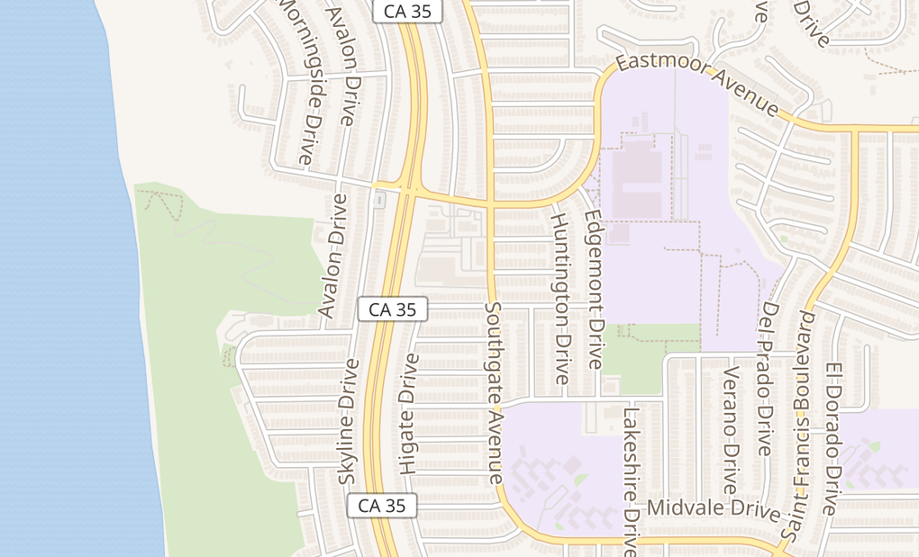map of 190 Skyline PlzDaly City, CA 94015