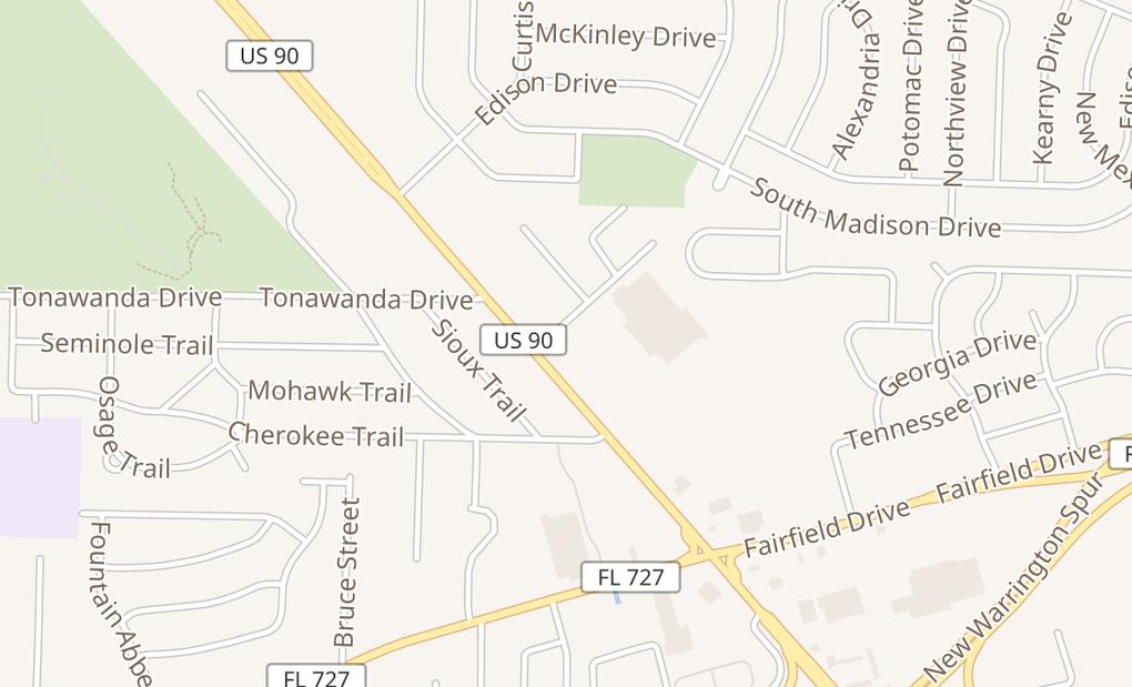 map of 4610 Mobile Hwy #BPensacola, FL 32506