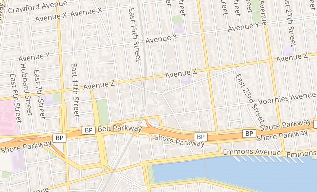 map of 1610 Sheepshead Bay RdBrooklyn, NY 11235
