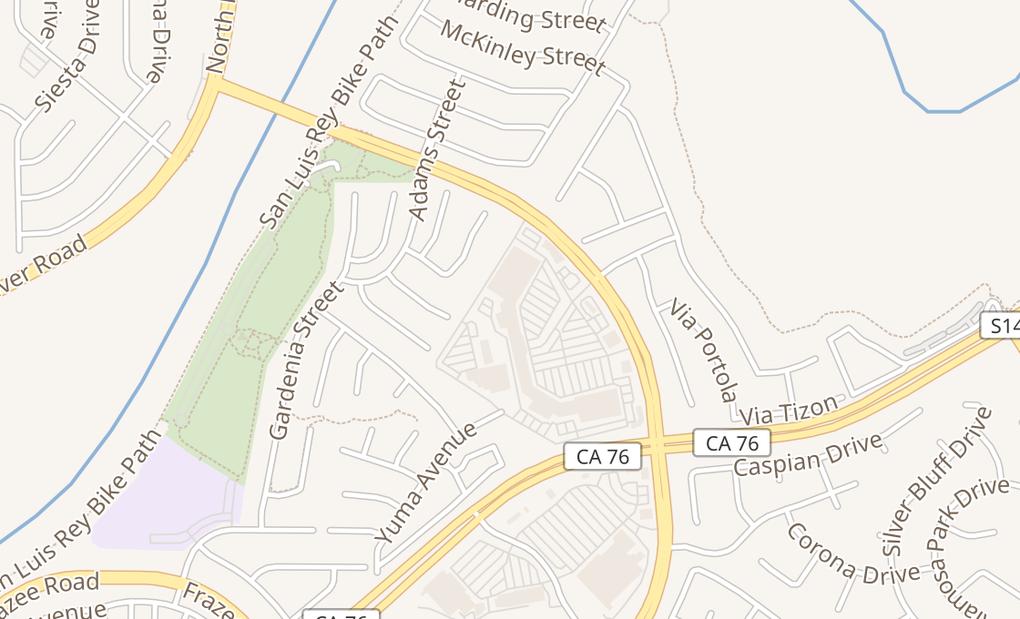 map of 447 College BlvdOceanside, CA 92057