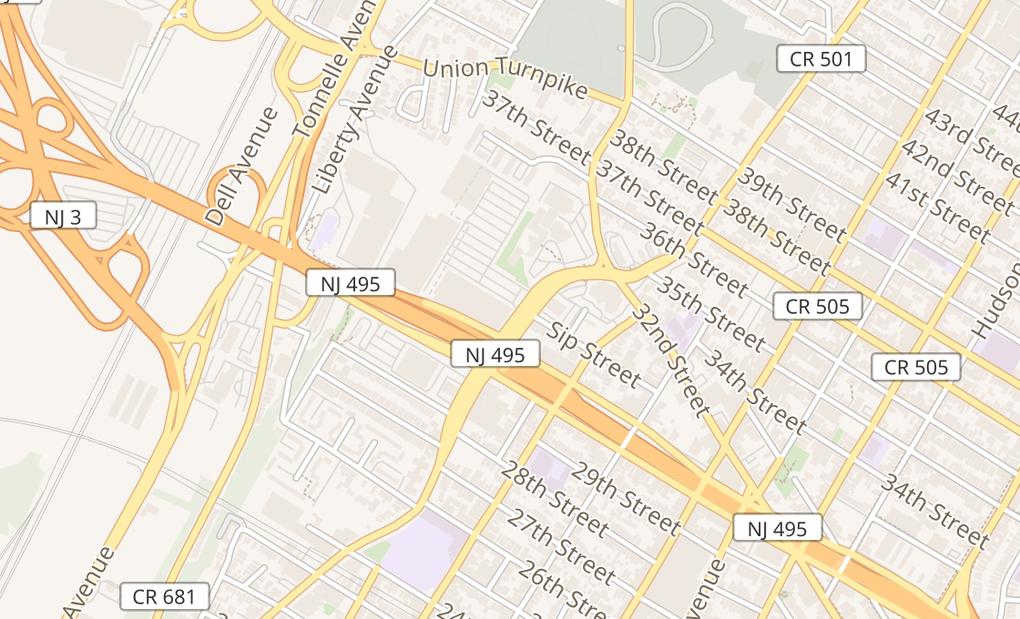 map of 3101 Kennedy Blvd Ste BNorth Bergen, NJ 07047
