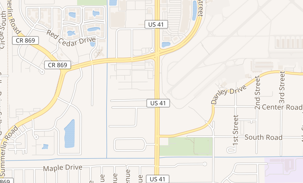 map of 10960 S Cleveland AveFort Myers, FL 33907