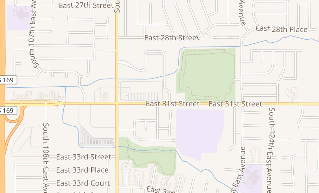 map of 11613 E 31 StTulsa, OK 74146