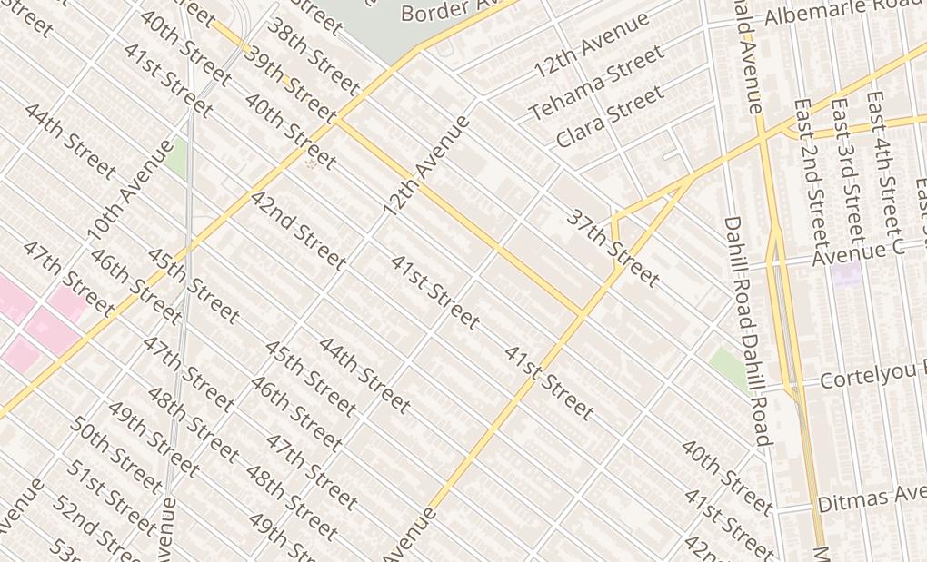 map of 4026 13Th AveBrooklyn, NY 11218