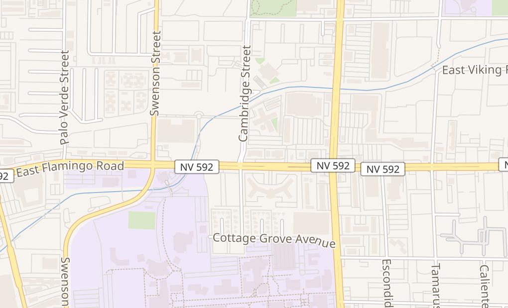map of 1040 E Flamingo Rd Ste C And DLas Vegas, NV 89119