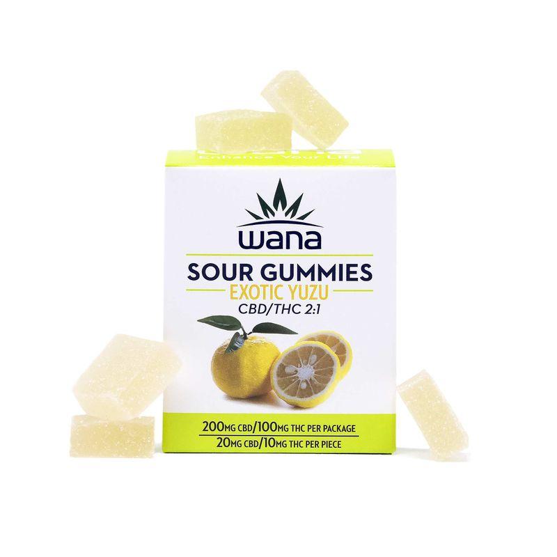Sour Gummies   2:1   CBD/THC   Exotic Yuzu   100mg - Wana