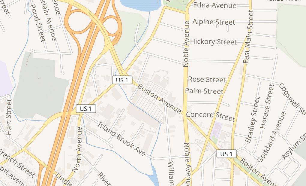 map of 161 Boston Ave Ste GBridgeport, CT 06610