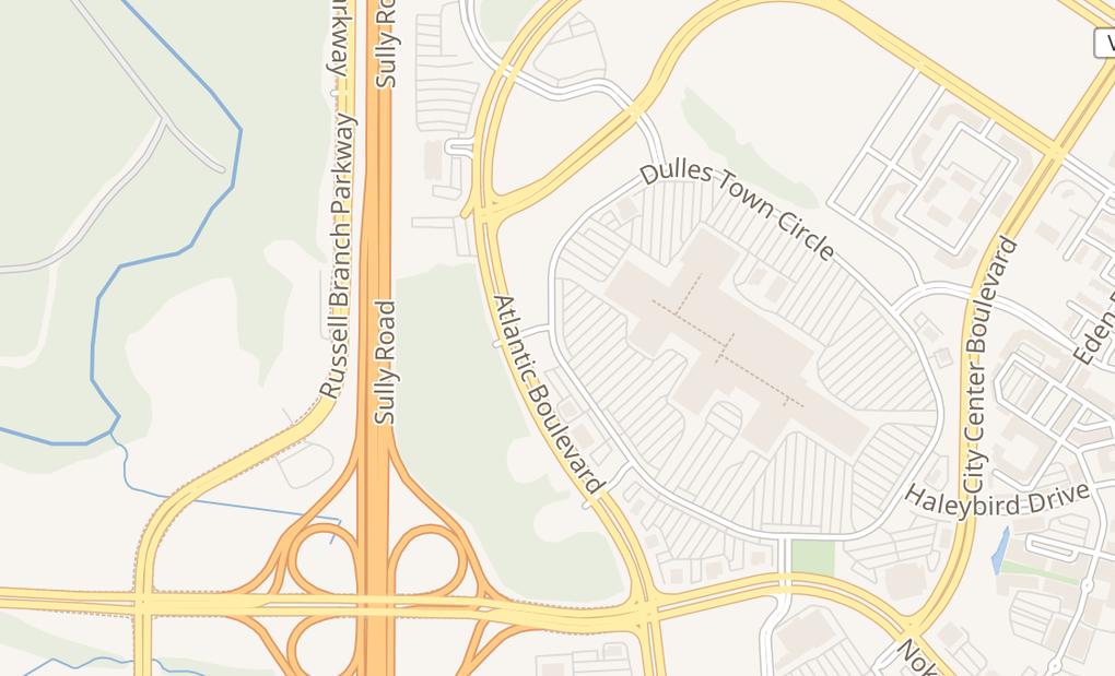 map of 21100 Dulles Town Cir Ste 156Dulles, VA 20166