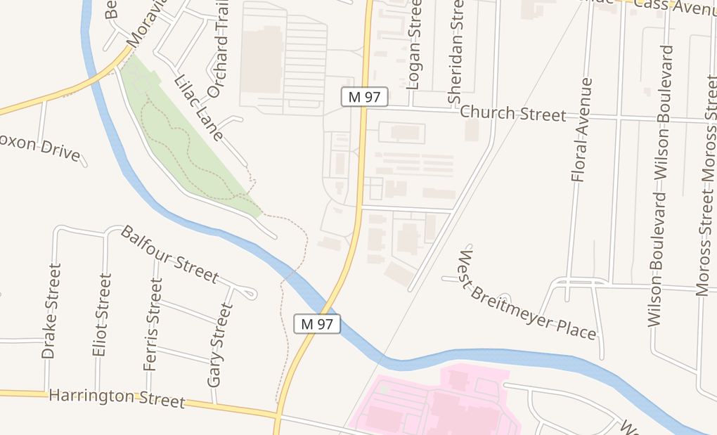 map of 40117 S Groesbeck HwyClinton Township, MI 48036