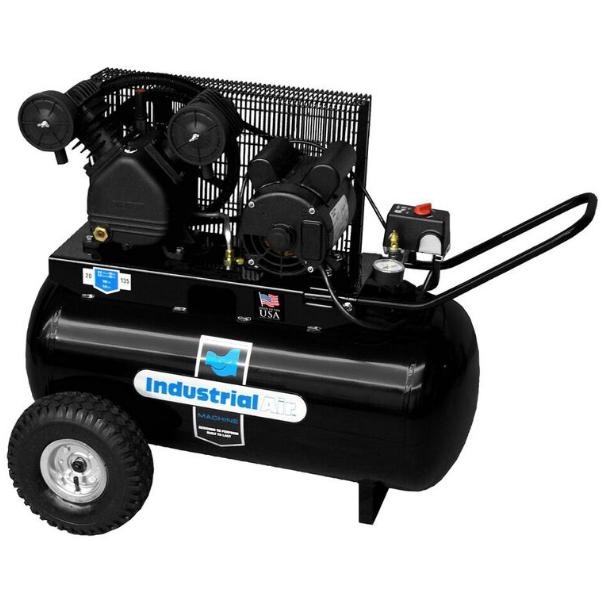 Rural King Air Compressor >> Industrial Air Compressor 1 6hp Horz 20 Gal V Twin