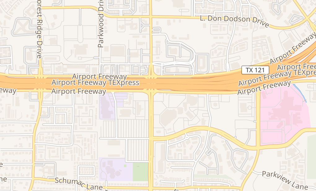 map of 2100 Airport Fwy Ste 200Bedford, TX 76022