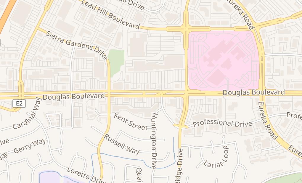 map of 1921 Douglas Blvd Ste 105Roseville, CA 95661