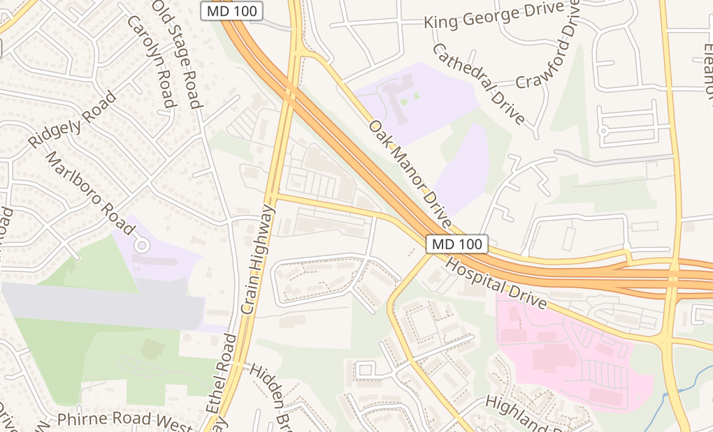 map of 337 Hospital Dr Ste PGlen Burnie, MD 21061